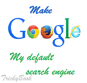 Make Google my default search engine