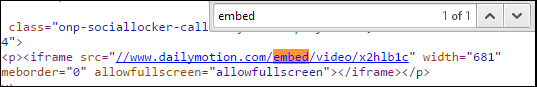 search embed